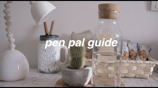 pen pal guide | what to write, what extras to give
