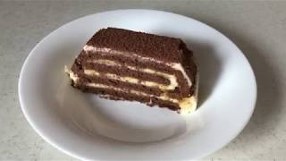 Быстрый торт без выпечки из печенья