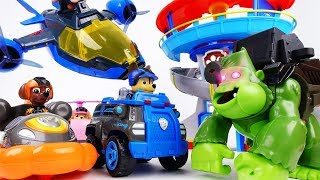 Beast Boy Truned Paw Patrol Into Surprise Eggs~! Paw Patrol Air Patroller & Surprise Eggs