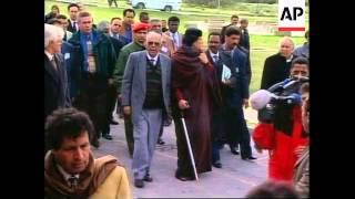 SOUTH AFRICA: LIBYAN LEADER MOAMMAR GADHAFI VISIT (2)