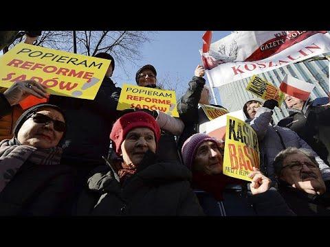 Φιλοκυβερνητικό συλλαλητήριο υπέρ της δικαστικής μεταρρύθμισης…