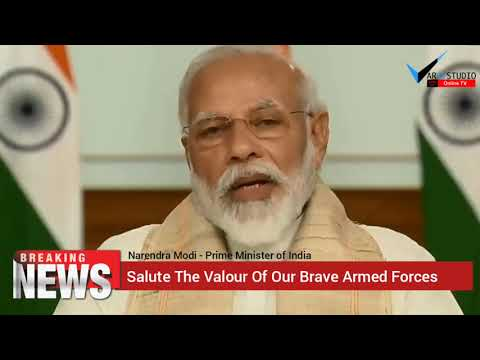"""Headline Today """"Salute The Valour Of Our Brave Armed Forces"""" Narendra Modi Prime Minister of India."""