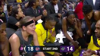 Indiana Fever-Los Angeles Sparks. 22-08-19.