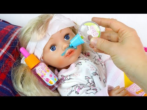 Эмили в ПОСТЕЛИ, Пропустила ШКОЛУ #Куклы Пупсики #Бебибон Игрушки Играем в Дочки Матери