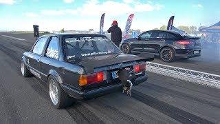 820HP BMW 325i E30 Turbo vs 950HP GAD Motors GLC 63 S