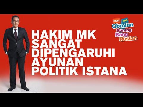 Refly Harun: Hakim MK Sangat Dipengaruhi Ayunan Politik Istana