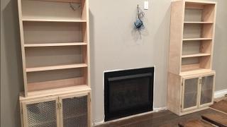 Fireplace Mantel Surround Pt. 2 Bookcase