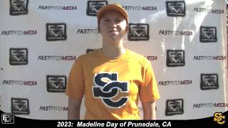 2023 Madeline Day Catcher and First Base Softball Skills Video - Ca Suncats