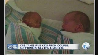 CPS takes five kids from couple; supporters say it's a mistake