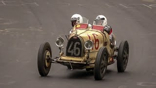 Pre-War & Vintage Cars on the Nürburgring Nordschleife - Early 1900s Bugatti | BMW | Fiat | MG | etc
