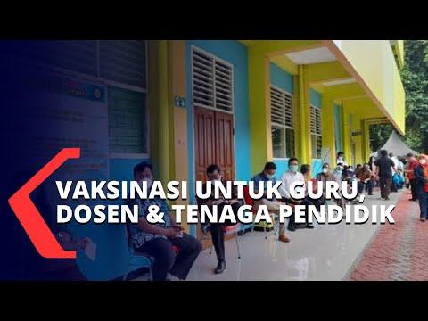 Guru, Dosen dan Tenaga Pendidik di Jakarta Jalani Vaksinasi Covid-19