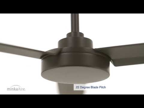 Video for Roto Flat White 52-Inch Ceiling Fan