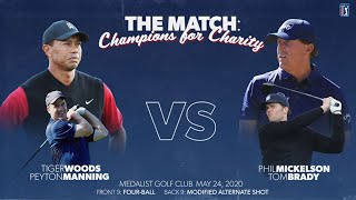 The Match: Champions For Charity | Tiger Woods & Peyton Manning vs Phil MIckelson & Tom Brady