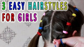 3 Easy hairstyles for girls 🌺 Hairstyles for school 🌸 Best Hairstyles for Girls