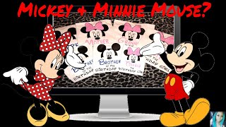 HTV Mickey & Minnie Mouse Shirt | Cricut Explore Air 2 | Design Space