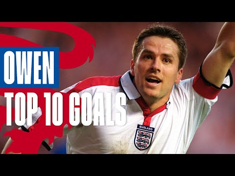 10 INCREDIBLE MICHAEL OWEN GOALS ⚽️ Best Goals for the Three Lions | Top 10 | England