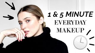 ⏱ 1 & 5 MINUTE EVERYDAY MAKEUP LOOKS ⏱ | allanaramaa - Video Youtube