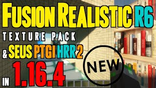 How to make Minecraft 1.16.4 Realistic - Fusion Realistic Textures & SEUS PTGI HRR (+download links)