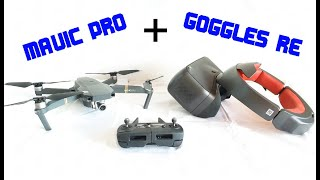 DJI MAVIC PRO avec DJI GOGGLES RE ( vol en immersion - FPV )