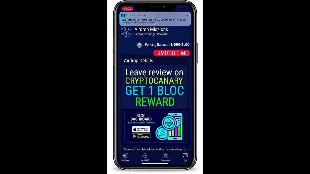 BLOC Dashboard AirDrop Mission | CryptoCanary Review
