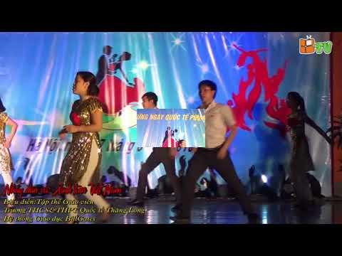 Nhảy dân vũ: Xinh Tươi Việt Nam - Tập thể GV THCS & THPT Quốc Tế Thăng Long ngày 8/3