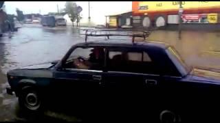Потоп в Костроме. 2-я Волжская. Фура.