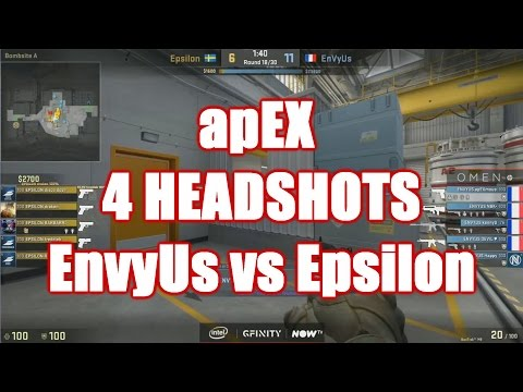 apEX 4 HEADSHOST vs Epsilon @ Gfinity CS:GO Invitational 2016 HD