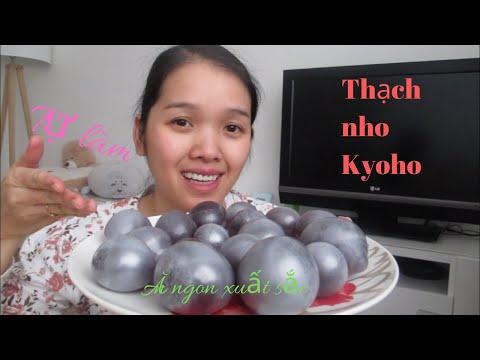 Tự làm thạch nho Kyoho hót hòn họt và kết quả cười rớt nước mắt| Making Kyoho jelly at home.
