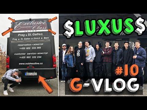 NAJLUXUSNEJŠÍ AUTOBUS V EURÓPE PLNÝ YOUTUBEROV │ G-VLOG #11