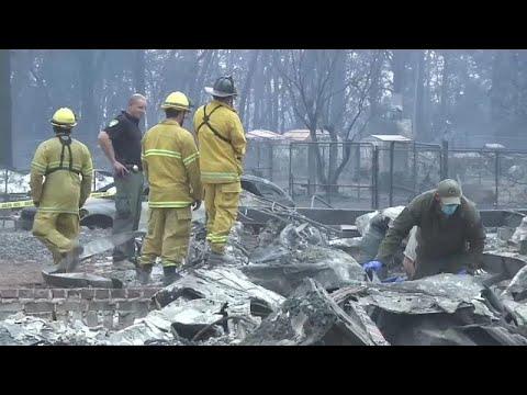 العرب اليوم - شاهد: الحرائق تشتعل في كاليفورنيا و 228 في عداد المفقودين
