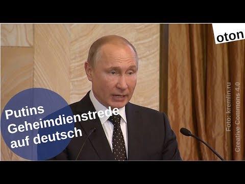 Putins Geheimdienstrede auf deutsch [Video]