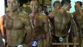 IFBB Bodybuilding Backstage Preparation Video (5th Asian Beach Games Danang 2016)
