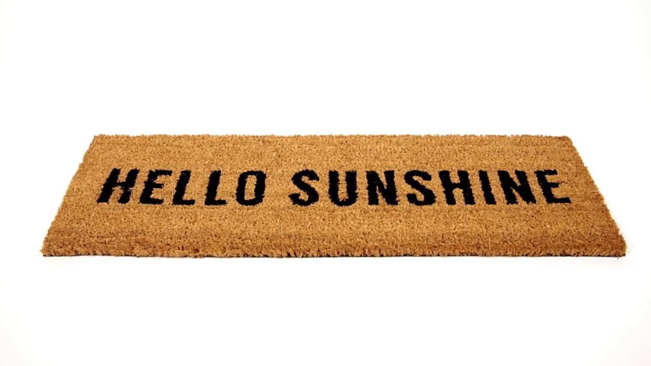 Video von: Fußmatte schmal HELLO SUNSHINE