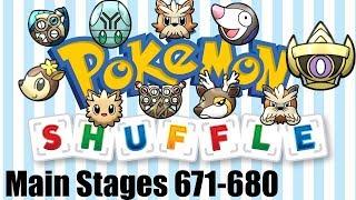 Elgyem  - (Pokémon) - Pokemon Shuffle Main Stages 671-680 Aegislash, Stoutland, Elgyem...