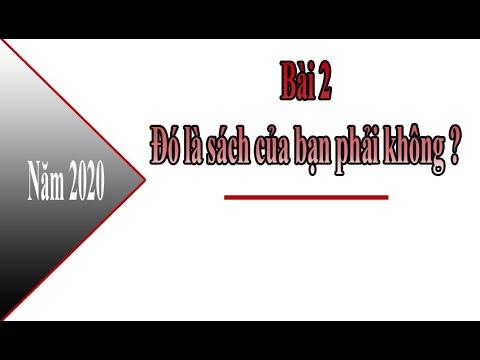 #07 Học tiếng trung - Bài 2 Đó là sách của bạn phải không?