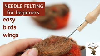 How To Needle Felt A Birds Wing - Needle Felting For Beginners With Lincolnshire Fenn Crafts