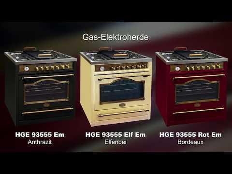 Freistehende Gas-Elektroherde 90 cm •Empire•