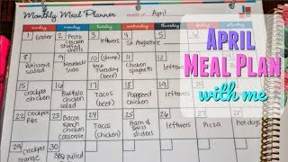 MEAL PLAN WITH ME 2018 // APRIL MONTHLY MEAL PLAN // HOW TO MEAL PLAN FOR THE MONTH