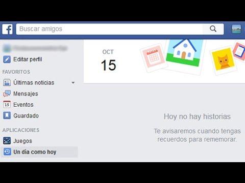 Cómo ajustar los recuerdos en facebook