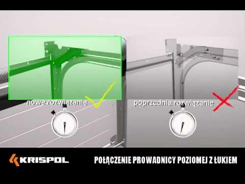 Zmiany konstrukcyjne w segmentowych bramach garażowych KRISPOL - zdjęcie