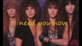 i need you now lyrics by firehouse