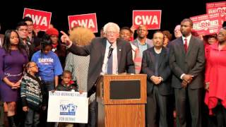 U.S. Sen. Bernie Sanders makes a campaign stop in Chicago