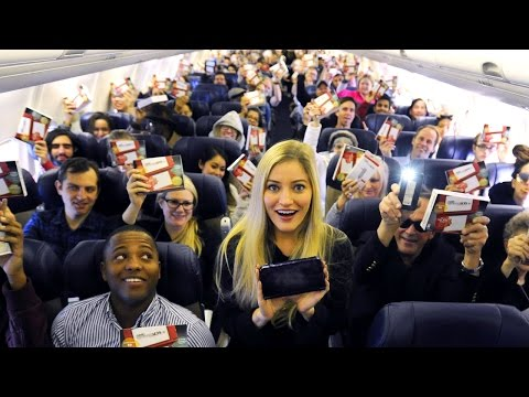 Gave out 143 New Nintendo 3DS XL systems to everyone on this plane!