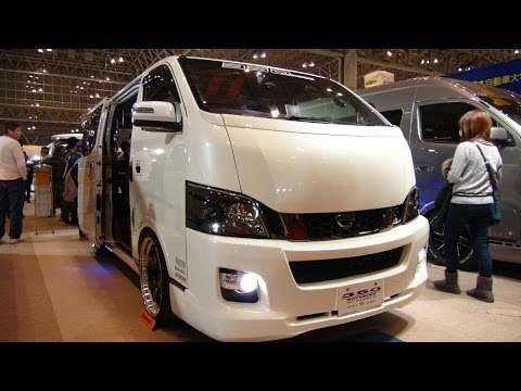 (HD)NISSAN CARAVAN NV350 modified 日産キャラバンNV350カスタム - 東京オートサロン2016