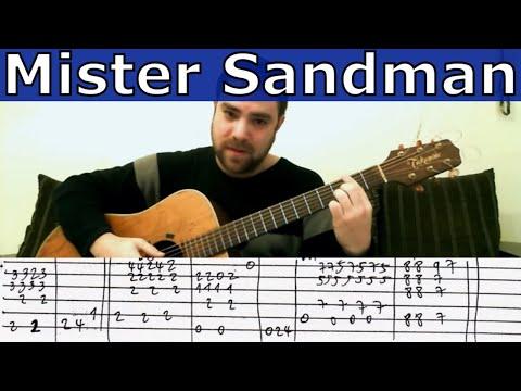 Tutorial: Mister Sandman - Fingerstyle Guitar w/ TAB