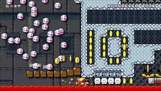 【Super Mario Maker】クリア率0% 制作期間2ヶ月!超鬼畜マントコースに挑戦【マリオメーカー】