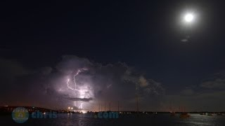 20 August 2013: Blue Moon Bolts - Full Moon And Lightning In Florida