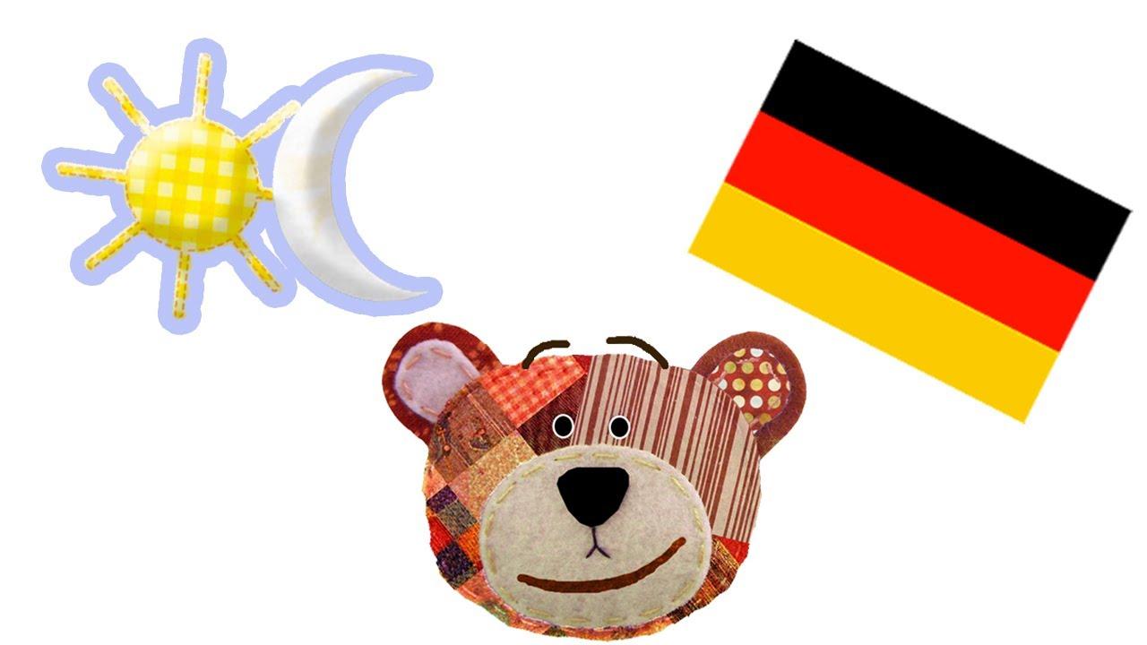 Los contrarios y opuestos para niños en alemán