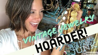 HUGE Vintage Jewelry Collection - Thrift Stores, Estate Sales, Auctions...Turquoise, Gold, Crystals