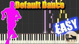 🎵 EASY Default Dance - Fortnite [Piano Tutorial] (Synthesia) HD Cover